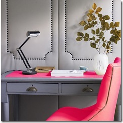 gray-and-pink-office via the decorista