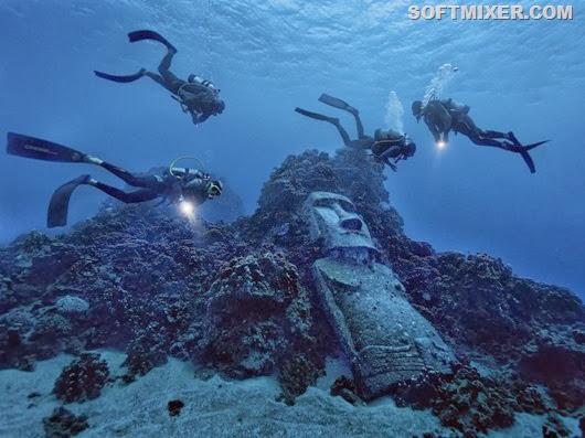 """Зачем  аборигены  острова Пасхи высекали статуи """"моаи"""" в карьере?"""