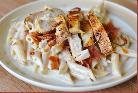 s the kind of dish that warms the soul and perfect for a Fall family dinner Chicken Bacon Pasta