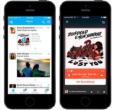 Ya se puede reproducir audio desde la app de Twitter para iOS y Android