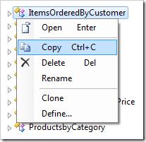 Copying the 'ItemsOrderedByCustomer' data controller.