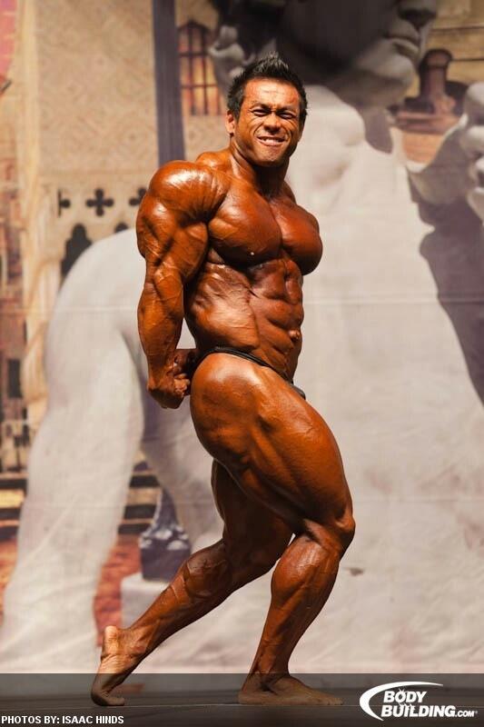 Hidetada Yamagishi side triceps pose