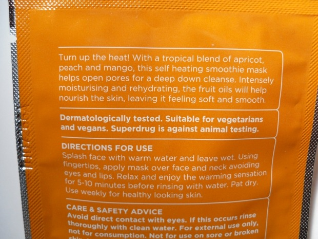 002-superdrug-face-mask-review-self-heating-smoothie-mask