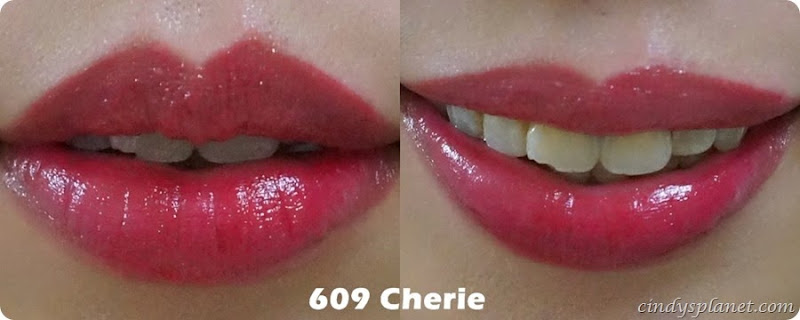 loreal wet shine stain  609 cherie swatch