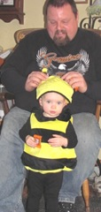 10.30.2011 Bella Halloween bumble bee trick or treating3