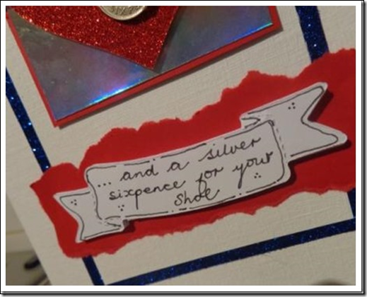 Silver Sixpence for her shoe card.