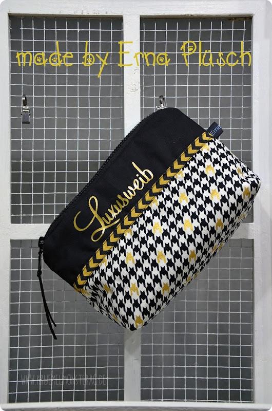 Glücksmomente 301114 Kosmetiktasche Luxusweib made by Erna Plüsch