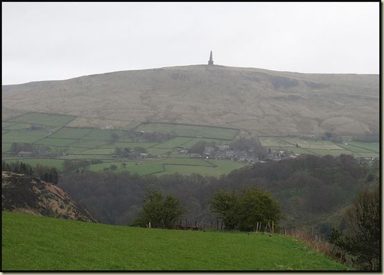 Stoodley Pike from Hole Bottom