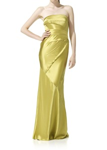 Strapless Satin Maxi Dress