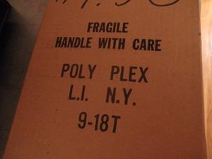 Poly Plex plastic wall organizer, box