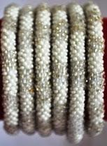 rollover bracelet silver grey white
