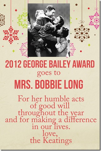 2012 George Bailey Award