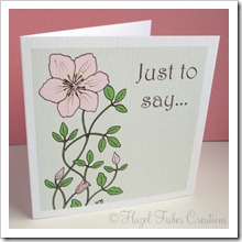 Clematis set of 4 small square note cards 3