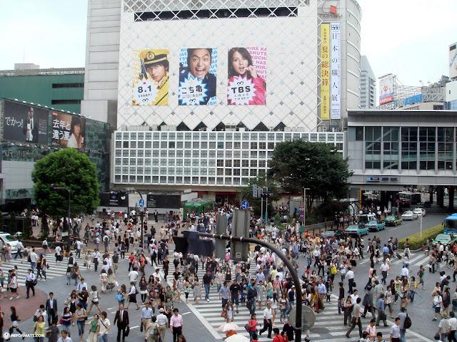 shibuya crossing in Tokyo, Tokyo, Japan