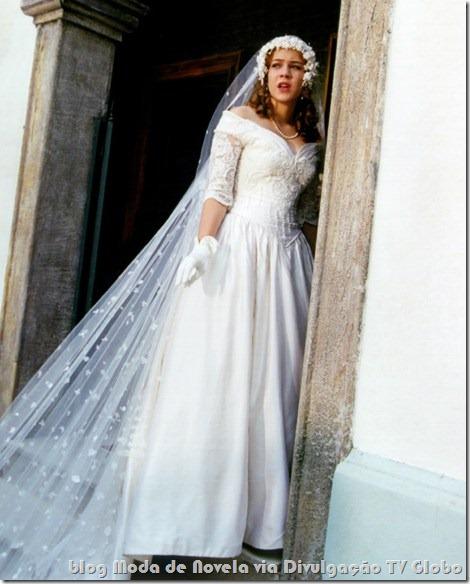 moda da novela o cravo e a rosa - vestido de noiva da bianca