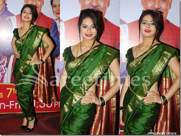 Green_Marathi_Traditional_Saree