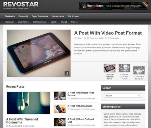 Magazine con widgets personalizados