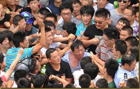 Qidong (China) protesters July 2012