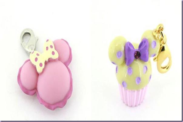 Disney-Charms-Pingentes-Minnie-Macaron-Cupcake