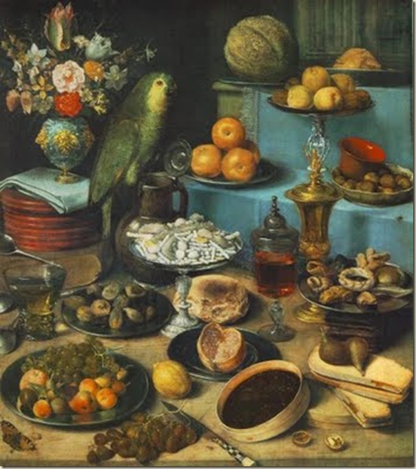 Flegel, Nature morte au perroquet