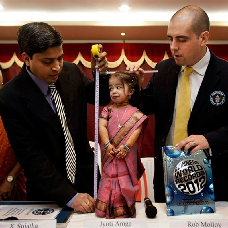 World's Shortest Woman Jyoti Amge is Only 24.7 Inches Tall