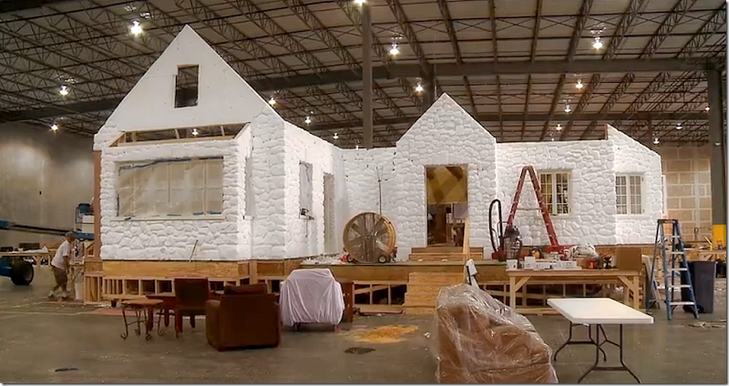 From the sketches, the set production team built a 3 d model ...