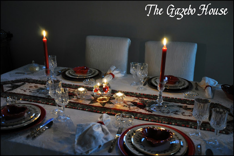 Valentines Day dinner table 004