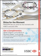 Pandora HSBC Promotion Branded Shopping Save Money EverydayOnSales