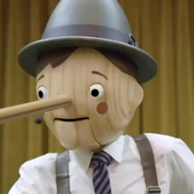 Pinocho no sabe mentir