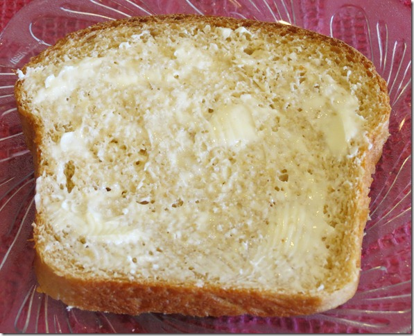 Whole Wheat Bread Slice with butter