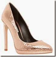 Dune Metallic Rose Gold Court Shoe