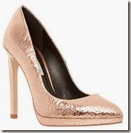 Dune Metallic Rose Gold Court Shoe