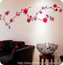 Декор стен с помощью аппликации 1