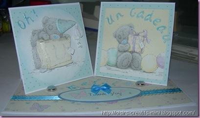 carterie créative, anniversaire, naissance, Me To You de Docrafts