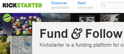 kickstarter crowdfunding projects donations