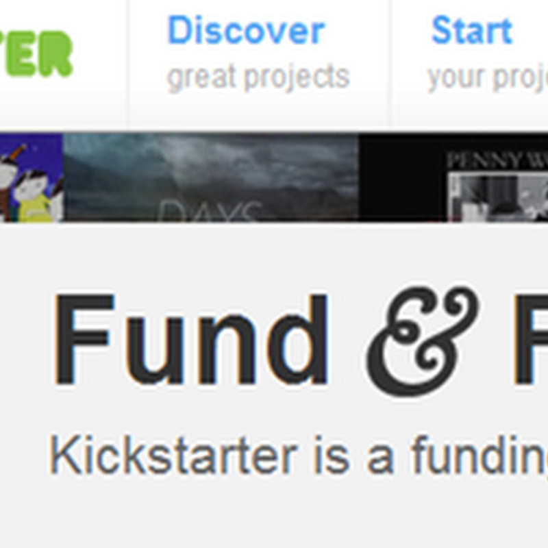 Kickstarter – Crowdfunding Art Projects from Donations