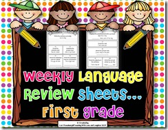 Weekly Language Review Sheets Cover