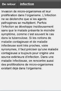 Dictionnaire médical - screenshot