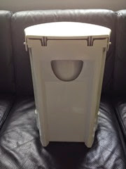 white Kartell waste bin back
