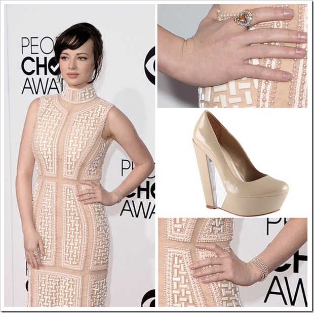 Ashley Rickards' selection of dress and jewelry