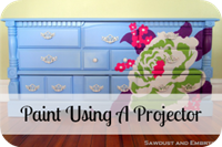 Hand Painted Flower Dresser