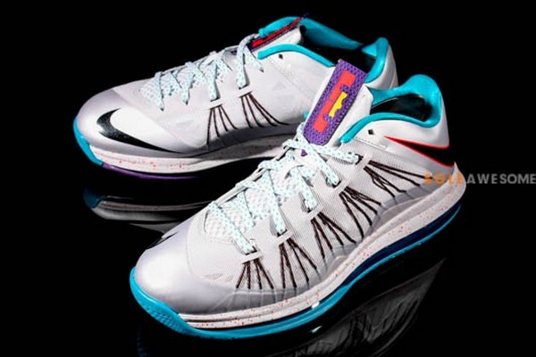 New Nike Air Max LeBron X Low Silver amp Teal 579765002