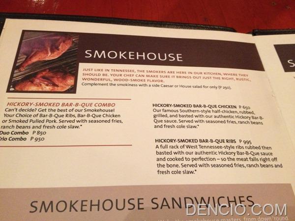 Hard Rock Cafe Makati Menu Prices 14