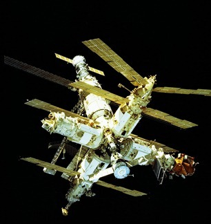 Mir Space Station designed & built by the Soviet Union. Last owned by Russia.