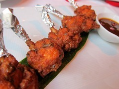 "Chicken Bhajia: Crispy chicken ""lollipops"