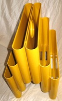 Kartell Stoppino 4675 magazine rack, yellow