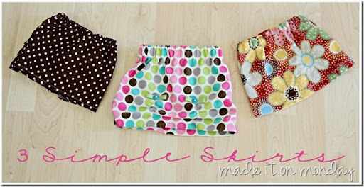 Three Simple Skirts at Made it on Monday