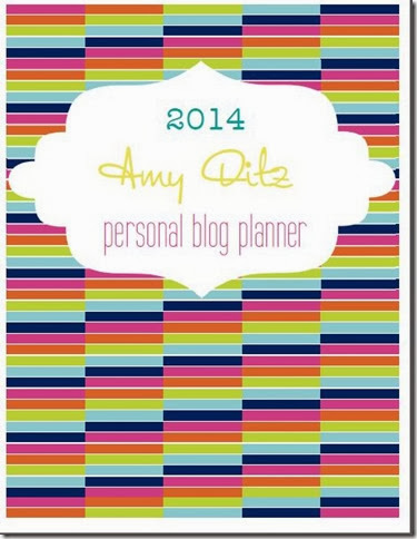 blog planner cover - The Preppy Strawberry