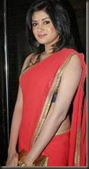 Oviya Hot Photos in Red Saree @ Madha Yaanai Koottam Audio Release