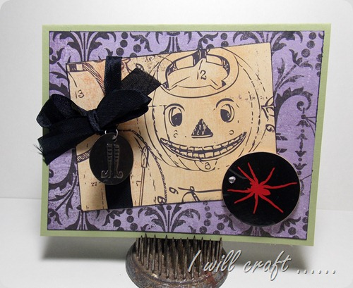 havestampswillcraft jack o lantern card